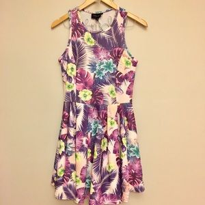 Tropical fit & flare Dress